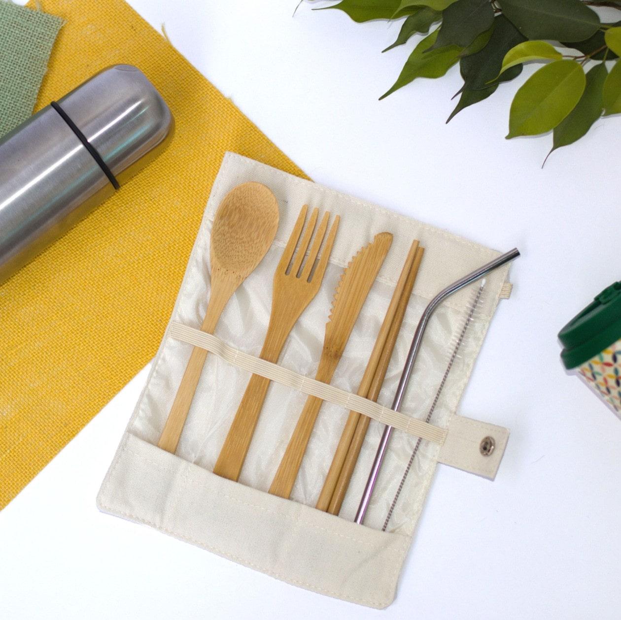 Bamboo Travel Cutlery Set