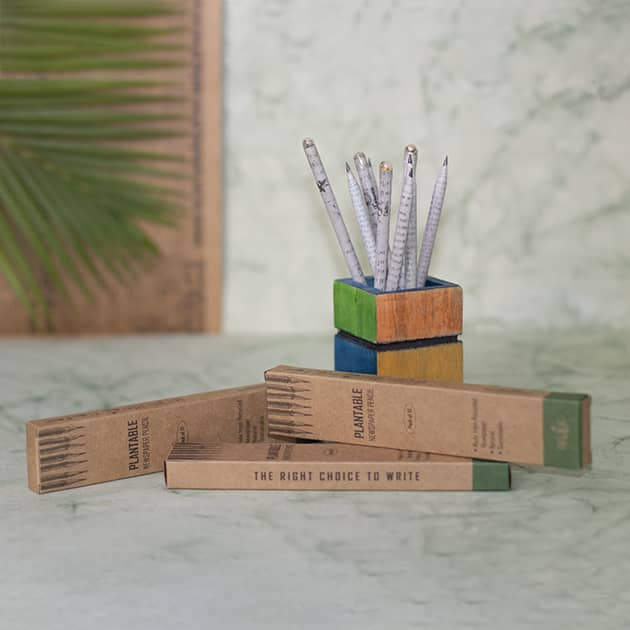 Plantable Newspaper Pencils